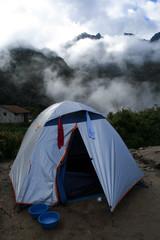 Tent at campsite