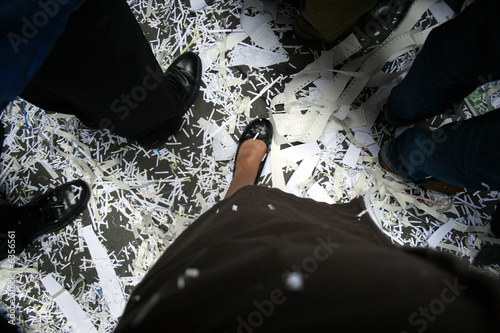 Business Shoes at a Ticker Tape Parade