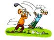 Leinwanddruck Bild - Golf Cartoons Serie Bild 3