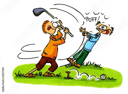 Leinwanddruck Bild Golf Cartoons Serie Bild 3