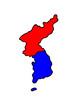 Nordkorea und Südkorea Karte