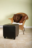 Relaxing chair and ottoman poster