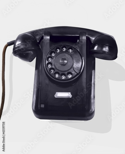 Old phone with a shade. 1950.