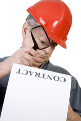 Construction Guy with Contract