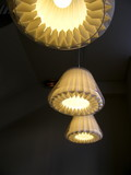 Lampes modernes avec abats jour de papier poster