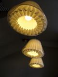 Lampes modernes avec abats jour de papier et plastique. poster