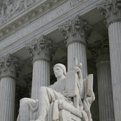 statue outside Supreme Court Washington DC
