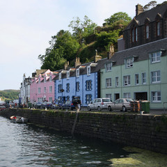 waterfront of Portree Isle of Skye Scotland