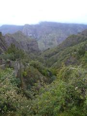 Paysage montagneux Cilaos