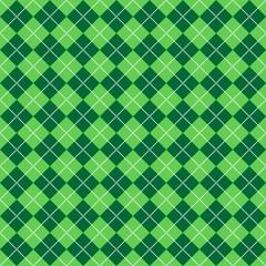 Green Argyle Pattern
