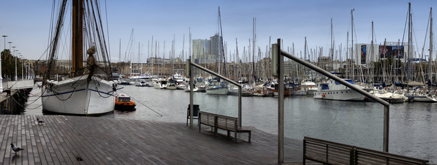 port de barcelone panoramique