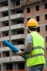 construction worker in uniform at work