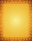 golden certificate background, vector poster