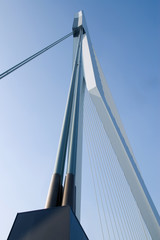 a piler of the bridge in Rotterdam, the netherlands