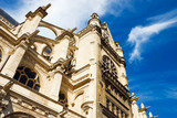 Saint Eustache church in Paris. High contrast effect. poster