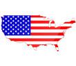 Drapeau des états-unis d'Amérique Carte