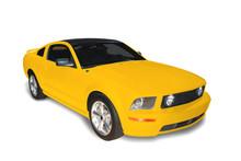 Coche deportivo amarillo foto de archivo Imagen de