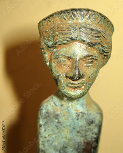 Tête de femme, bronze étrusque. - 6376549