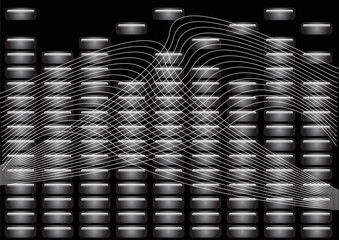 abstract graphic equalizer sound mixer pattern