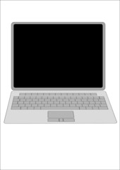 laptop computer illustration white background