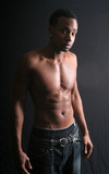 Black man topless poster