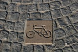 road marking - bicycle track poster