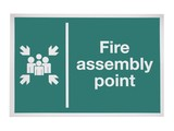 A Fire Assembly Point Sign. poster