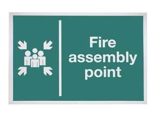A Fire Assembly Point Sign.