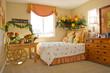 Modern tastefully decorated bedroom