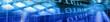 blue banner illustrating new technologies