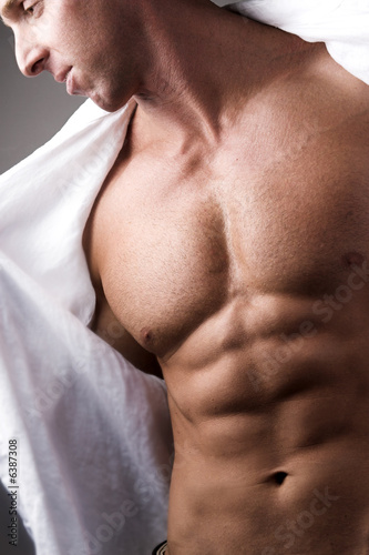 handsome man with abs
