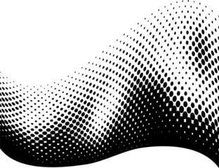 Vector - halftone dots wave