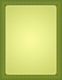 green certificate background poster