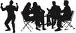 silhouettes business en action - vie au bureau - réunion