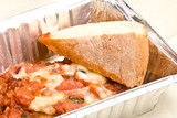 carry out meal chicken parmesan with a slice of bread