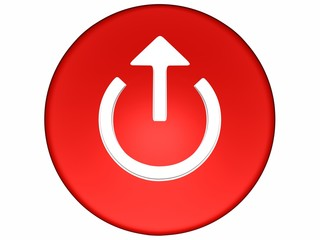 red button with arrow