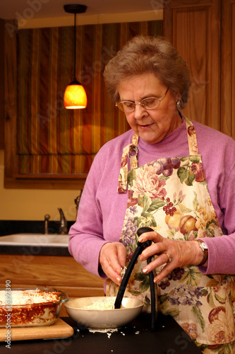 Grandma Making Lasanga