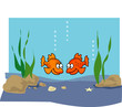 Goldfish cartoon illustration