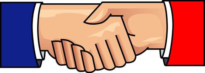 Shaking hands vector illustration