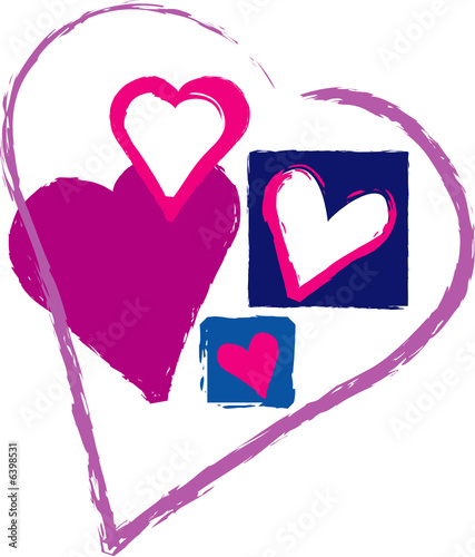Love heart vector illustration