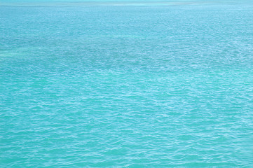 Caribbean blue ocean background texture