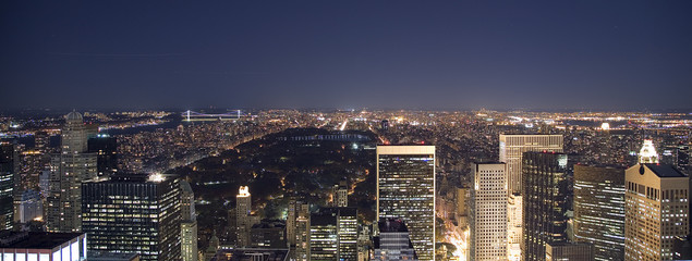 Uptown & Central Park at Night