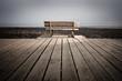 banc promenade bois mer solitude réflexion côte plage