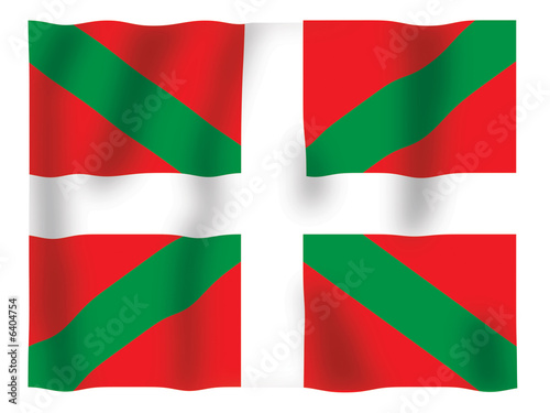 Fluttering image of the Basque flag.
