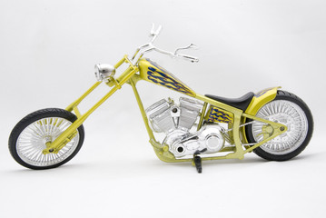 Motorcycle yellow