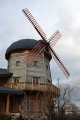 Old-fashioned windmill