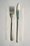 Cheap Silverware and Napkin poster