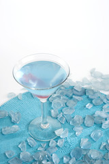 Mediterranean Martini on Blue