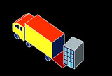Removal lorry illustration poster