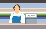 Shop assistant poster